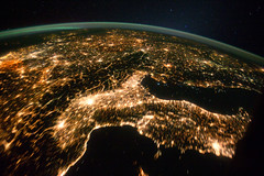 Central and Eastern Europe at Night (NASA, Int...