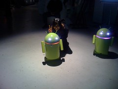Google Droid Robots at Creative Sandbox