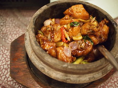 Chicken in claypot. Seafood International, Playground @ Big Splash.
