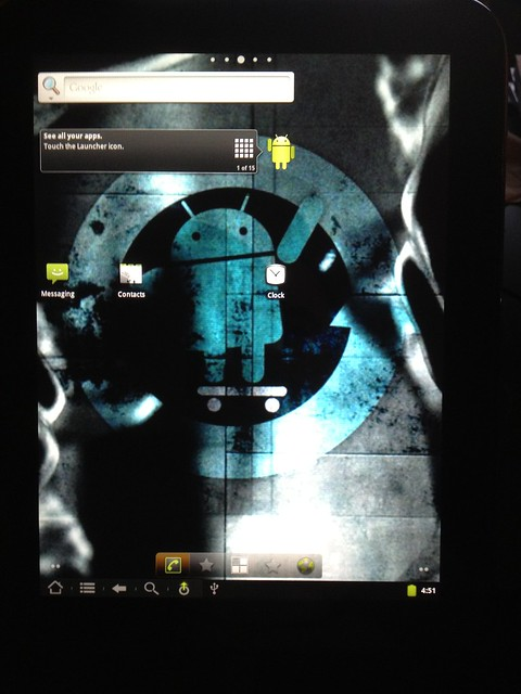 Android successfully installed on HP TouchPad