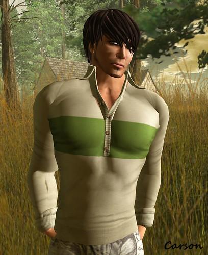 GizzA - Beige and Green SweatShirt