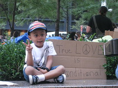 Peace Child at Occupy Wall Street