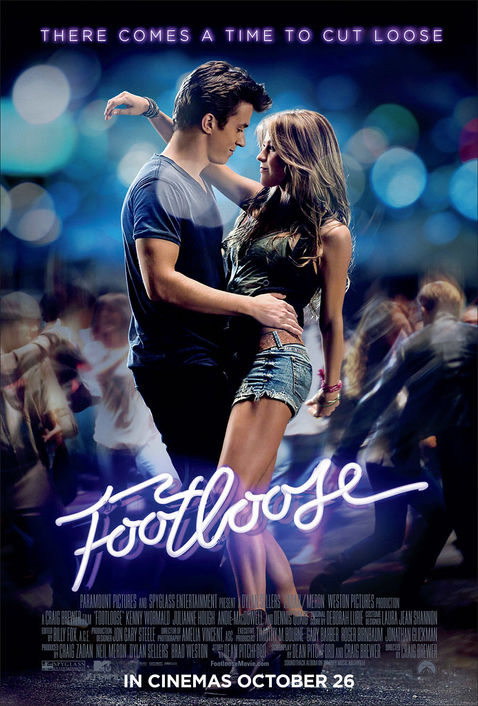 Leads, Kenny Wormald and Julianne Hough on the poster of the 2011 remake of Footloose