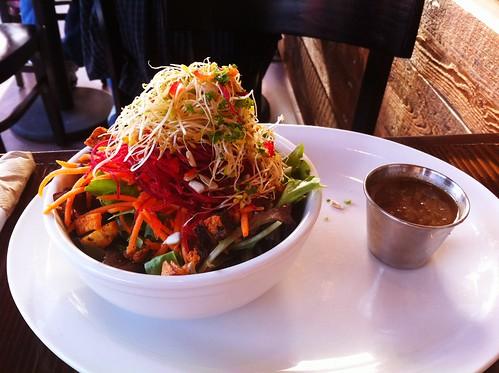 mini-greens salad