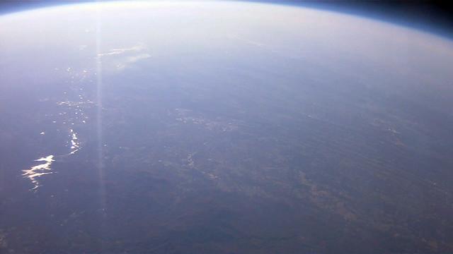 Facing east at 90000 feet