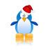 Penguin Santa Hat