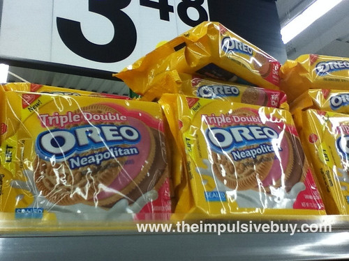 Triple Double Oreo Neapolitan on shelf