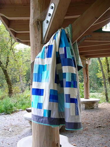 Banff quilt hanging