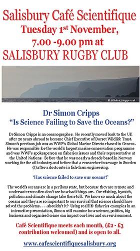 Poster for Dr Simon Cripps