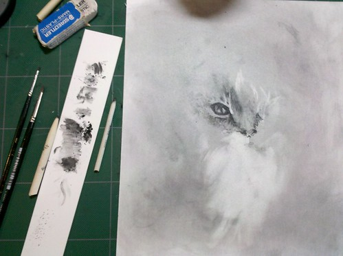 Graphite Powder Experimentation on Hot Press Illustration Board