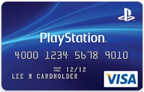 PlayStation cartão de crédito