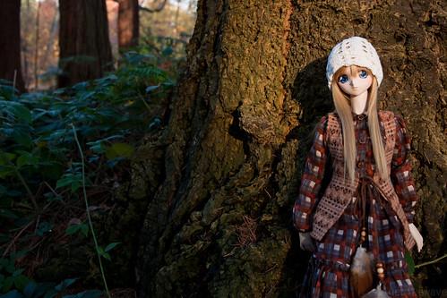 Shizuko in the forest