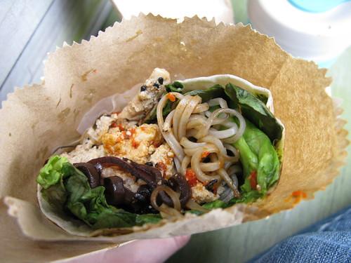 tofu scramble wrap