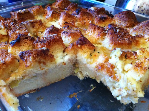 savory brioche bread pudding