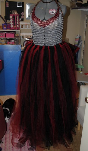 Tulle dress pre-trim
