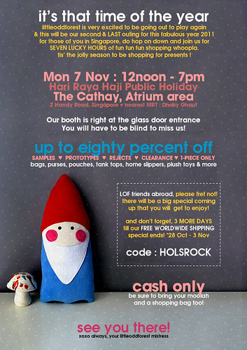 Come shop with us MON 7 NOV! by my little odd forest