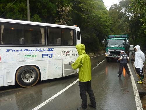 二号車が…, 牡鹿半島大原でボランティア Volunteer at Ohara, Oshika Peninsula, Miyagi pref. Deeply Affected Area by the Tsunami
