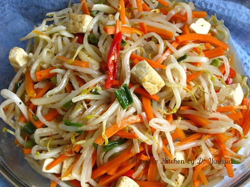Stir-Fry Bean Sprout, Carrot & Tofu