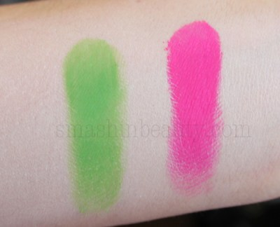 Flormar NEON Eye shadow swatches