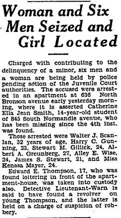 AL arrest in 1927