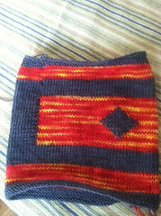 Fire swatch intarsia in the round