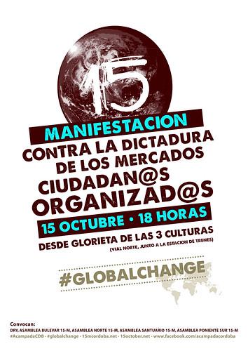 Manifestación internacional del 15 de octubre en Córdoba: Contra la Dictadura de los Mercados.