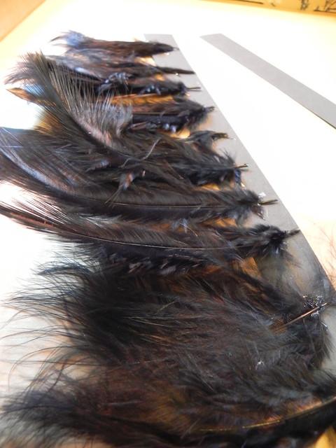 Spooky Halloween Feather Chandelier