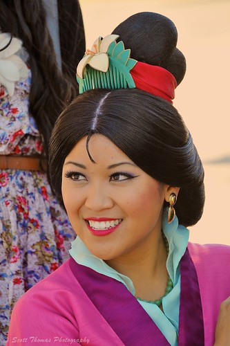 Mulan's Smile during a Meet and Greet in Epcot's China Pavilion, Walt Disney World, Orlando, Florida.