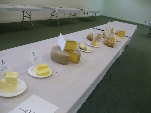 All the double golds (from l-r Spring Hill Butter, McClelland Dairy Butter, Valley Ford Highway One, Bleating Heart Sheperdista, Blkeating Heart Fat Bottom Girl, Achadinha Capricious, Two Rock Valley Cheese, Valley Ford Estero Gold