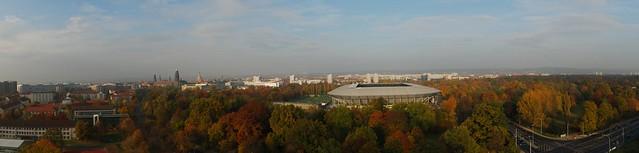Panorama vom Großen Garten und ehem. Rudolf-Harbig-Stadion