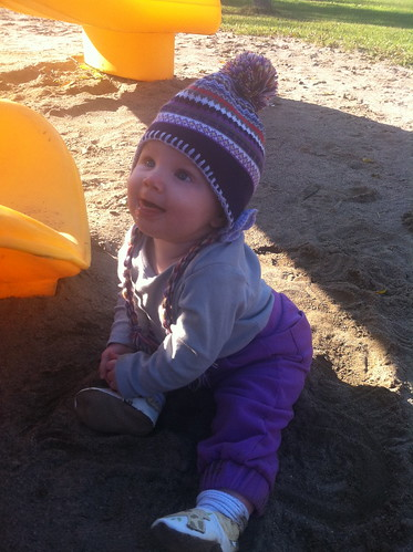 Eating sand at the park