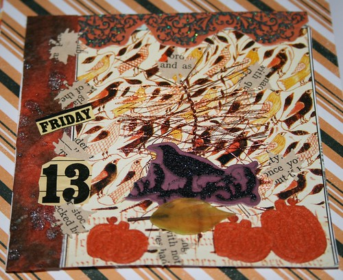 "Friday the 13th 4"" x 4 Collage card"