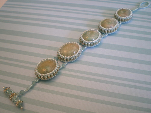 Ernestina Faux Opal Bracelet