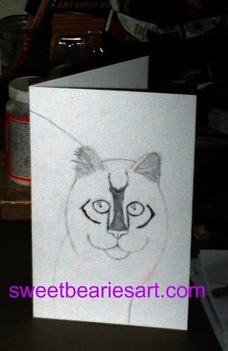 Drawing My Cat Card