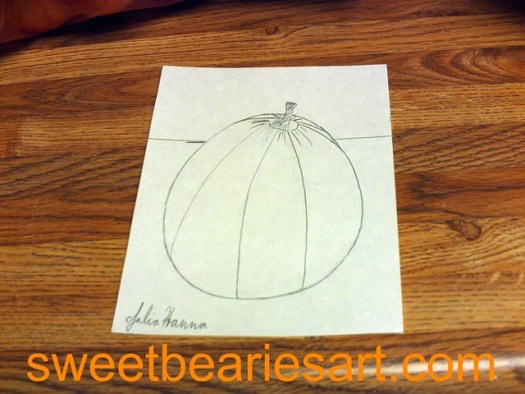 Drawing A Pumpkin