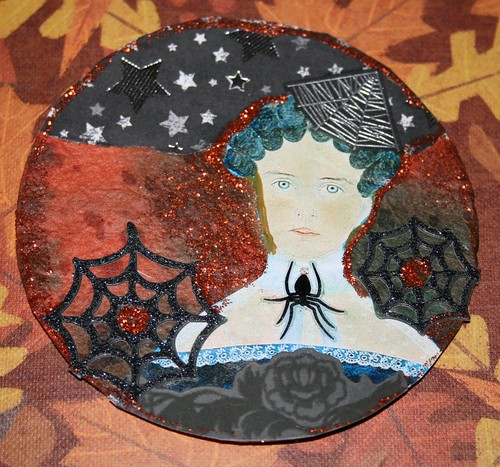 The Black Widow Collage Coaster