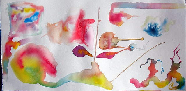 Watercolor experiments on cold-press paper