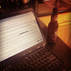 Writing, drinking