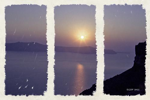 Santorini Triptych