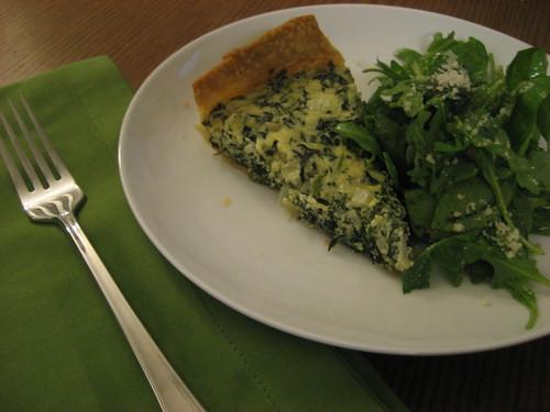 quiche & arugula salad
