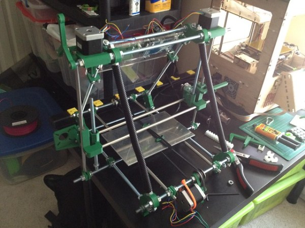 Making some progress on the Prusa Mendel build this weekend #reprap