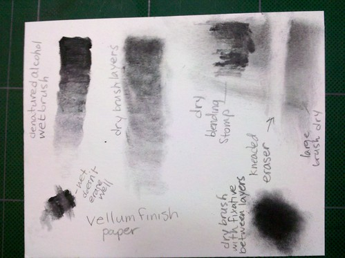 Graphite Powder Experimentation on Vellum Paper