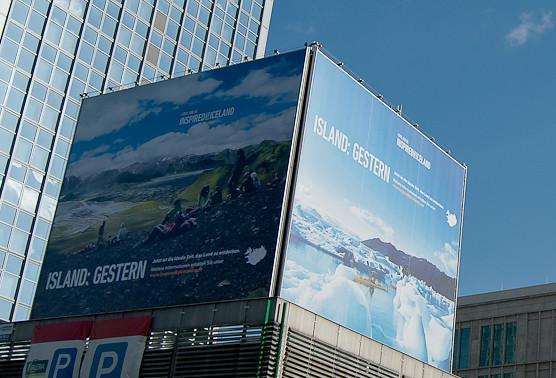 Campaña publicitaria de Inspired by Iceland en Berlín
