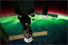 Earth's Aurora and ISS