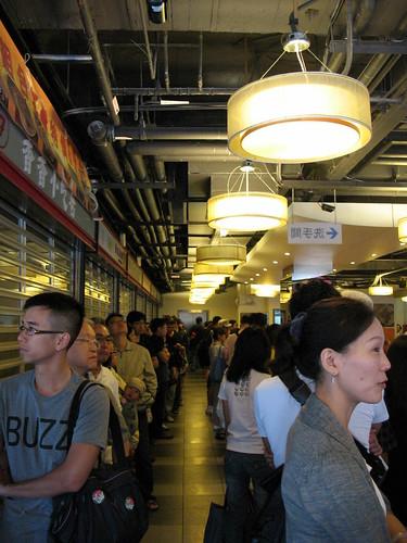 Loooong line for breakfast in Taipei