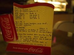 Drinks menu, Wimbly Lu Chocolates, 15-2 Jalan Riang