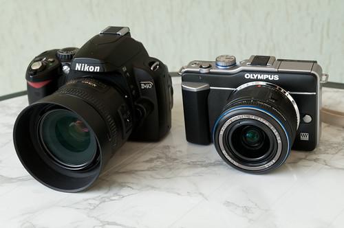 Olympus E-PL1 y Nikon D40