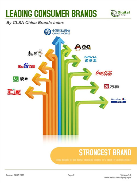 Most popular Chinese brands