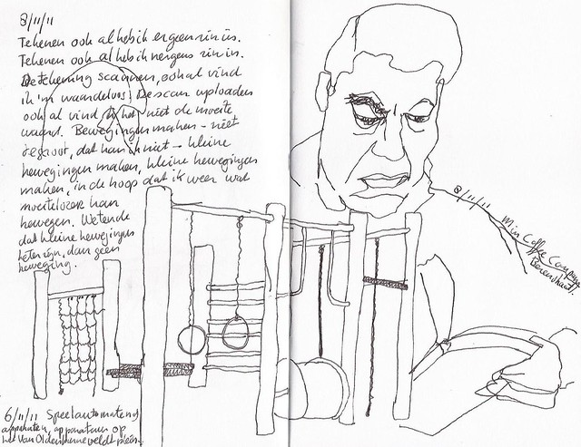 Playground and portrait in my journal