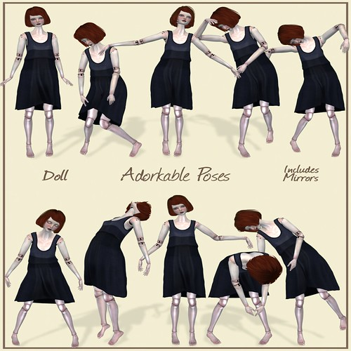 Doll Poses by Adorkable @ The Deck